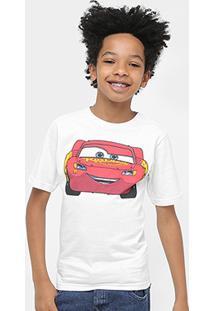 Camiseta Disney Carros Mcqueen Back Masculina - Masculino