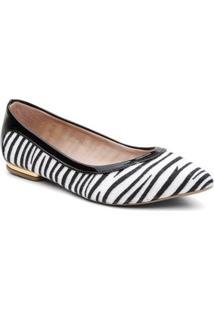 Sapatilha Violanta Africa Zebra Feminina - Feminino-Preto+Branco