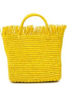 Sensi Studio Woven Tote Bag - Amarelo