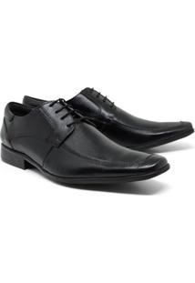 Sapato Social Lsb Shoes Bico Confort Masculino - Masculino-Preto