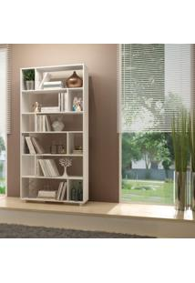 Estante Para Livros 5 Prateleiras Be 44 Performa Brv Móveis Branco