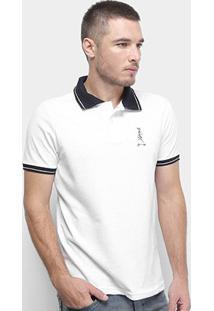 Camisa Polo Derek Ho Friso Caveira Masculina - Masculino-Branco