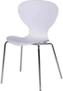 Cadeira Or Design Wave Eventos Pp Base Cromada 1103 Branca