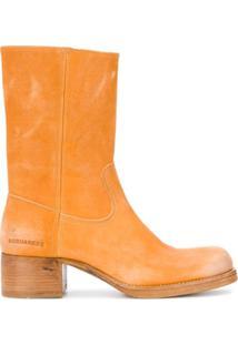 Dsquared2 Ankle Boot Salto Bloco - Neutro