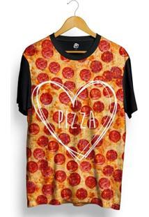 Camiseta Bsc Greater Love Pizza Full Print - Masculino