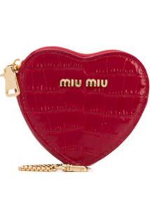 Miu Miu Porta-Moedas Com Logo - Vermelho