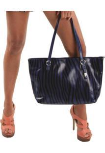 Bolsa Sacola Print Color-3- Azul - Feminino - Dafiti