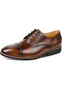 Sapato Linha Premium Derby Sandro Moscoloni 16763 Marrom Escuro