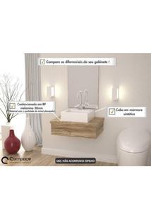 Conjunto Para Banheiro Gabinete Com Cuba Q35 600W Metrópole Compace Carvalho