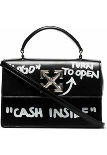 Off-White Bolsa Itney 1.4 Cash Inside - Preto