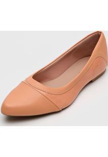 Sapatilha Dafiti Shoes Recortes Coral - Coral - Feminino - Sintã©Tico - Dafiti