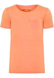 Camiseta Masculina Básica Fluor - Laranja