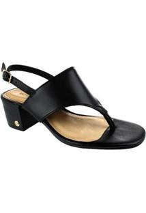 Sandália Salto Baixo Bottero Phoebe Feminina - Feminino-Preto