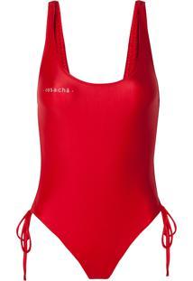 Body Rosa Chá Giovanna Red Beachwear Vermelho Feminino (Barbados Cherry, G)