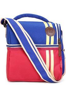Bolsa Térmica Wilson Lancheira Double - Unissex-Vermelho+Azul