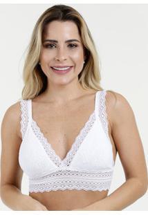 Sutiã Feminino Top Triângulo Jacquard Trifil