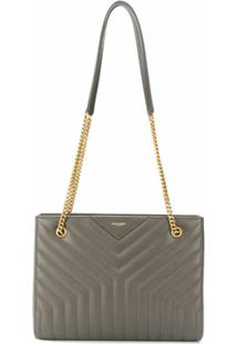 Saint Laurent Bolsa Tiracolo Joan Shopping - Verde