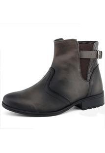 Bota Touro Boots Ankle Boot Elastic Café