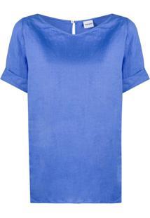 Aspesi Blusa Com Mangas Curtas - Azul