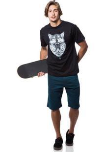 Camiseta Fallen Wolf - Masculino-Preto