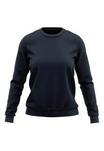 Moletom Lucinoze Camisetas Blusa Azul Marinho Plus Size.