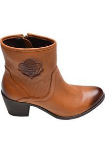 Bota Feminina Ankle Boot Copodarte Caramelo