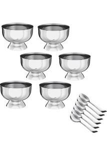 Conjunto De Taças Para Sobremesa- Inox- 12Pçs- Eeuro Homeware