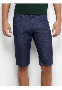 Bermuda Jeans Biotipo Super Escura Masculina - Masculino-Jeans