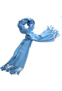 Lenço Real Arte Liso Azul Claro