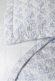 Colcha Com Porta Travesseiro Matelada 300 Fios Istambul Azul - Scavone