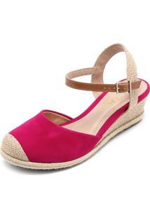 cc53087a1 Sandália Bico Redondo Rosa feminina | Shoelover