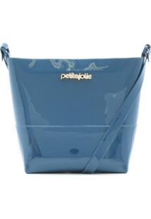 Bolsa Petite Jolie Verniz Azul
