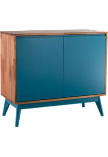 Buffet Roma 2 Pt Natural E Azul