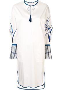 Mame Kurogouchi Vestido Midi Com Tassel - Branco