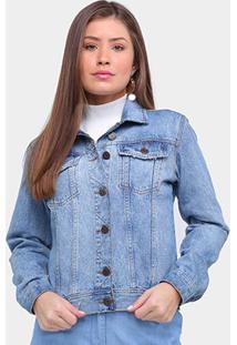 Jaqueta Jeans Ex Adverso Básica Feminina - Feminino