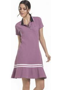 Vestido Seeder Polo Piquet - Feminino-Roxo