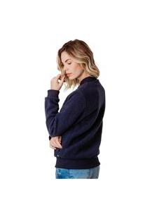 Jaqueta Bomber Feminina Em Lã Sintética Wooly