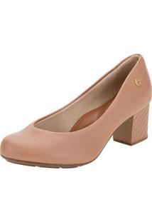 Sapato Feminino Salto Médio Moleca - 5708102 Bege 34
