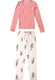 Pijama Longo Suedine Feminino