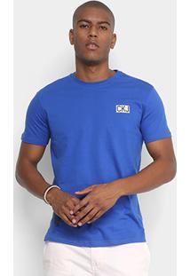 Camiseta Calvin Klein Logo Masculina - Masculino-Azul