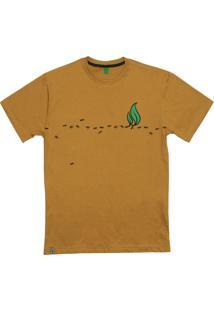 Camiseta Simple Skateboard Ant Way Mostarda