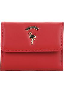 Carteira Flamingo Colcci Feminina - Feminino-Vermelho