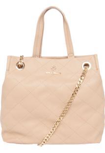 Bolsa Ana Hickmann Grande Handbag Bege