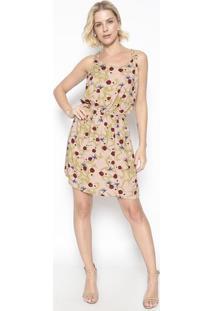 Vestido Com Elã¡Stico- Ros㪠& Bordã´Vip Reserva