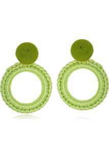 Brinco Le Diamond Carminha Crochê Verde - Kanui