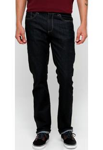 Calça Jeans Lacoste Reta - Masculino-Azul Escuro