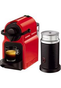 Cafeteira Expresso Nespresso Combo Inissia Ruby Red & Aeroccino - Vermelho