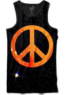 ... Camiseta Regata Long Beach Psicodélica Paz E Amor Sublimada Preto 3716311c319