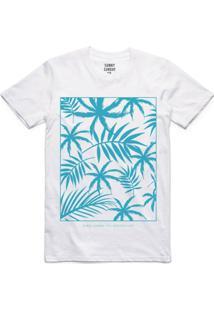 Camiseta Florida Sunny Sunday Tropical - Masculino-Branco