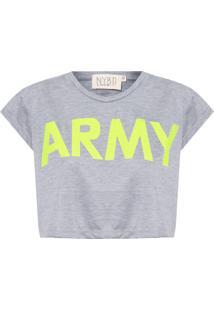 Camiseta Feminina Army - Cinza